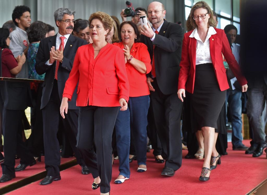 Brazil's Rousseff loses palace, but life goes on