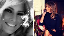 Melania Trump shares rare selfie from Mar-a-Lago New Year's party