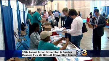 Runners Pick Up Bibs For Upcoming Broad Street Run