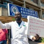 Zimbabwe doctors march to support 'abducted' union activist