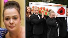 Funeral for mother left with horrific burns in arson attack that killed four of her children