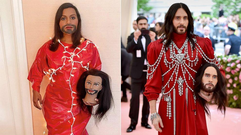 Metgalachallenge Mindy Kaling And Other Stars Recreate Iconic Met Gala Looks