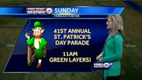 Damp day ahead for St. Patrick's Day