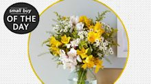 Small buy to make your day: treat yourself to a flower delivery to banish the blues