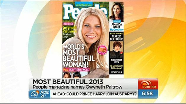 Paltrow named most beautiful