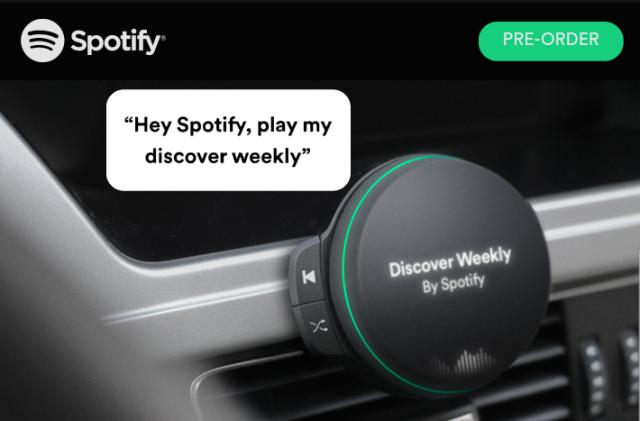 Spotify might be working on an in-car music player