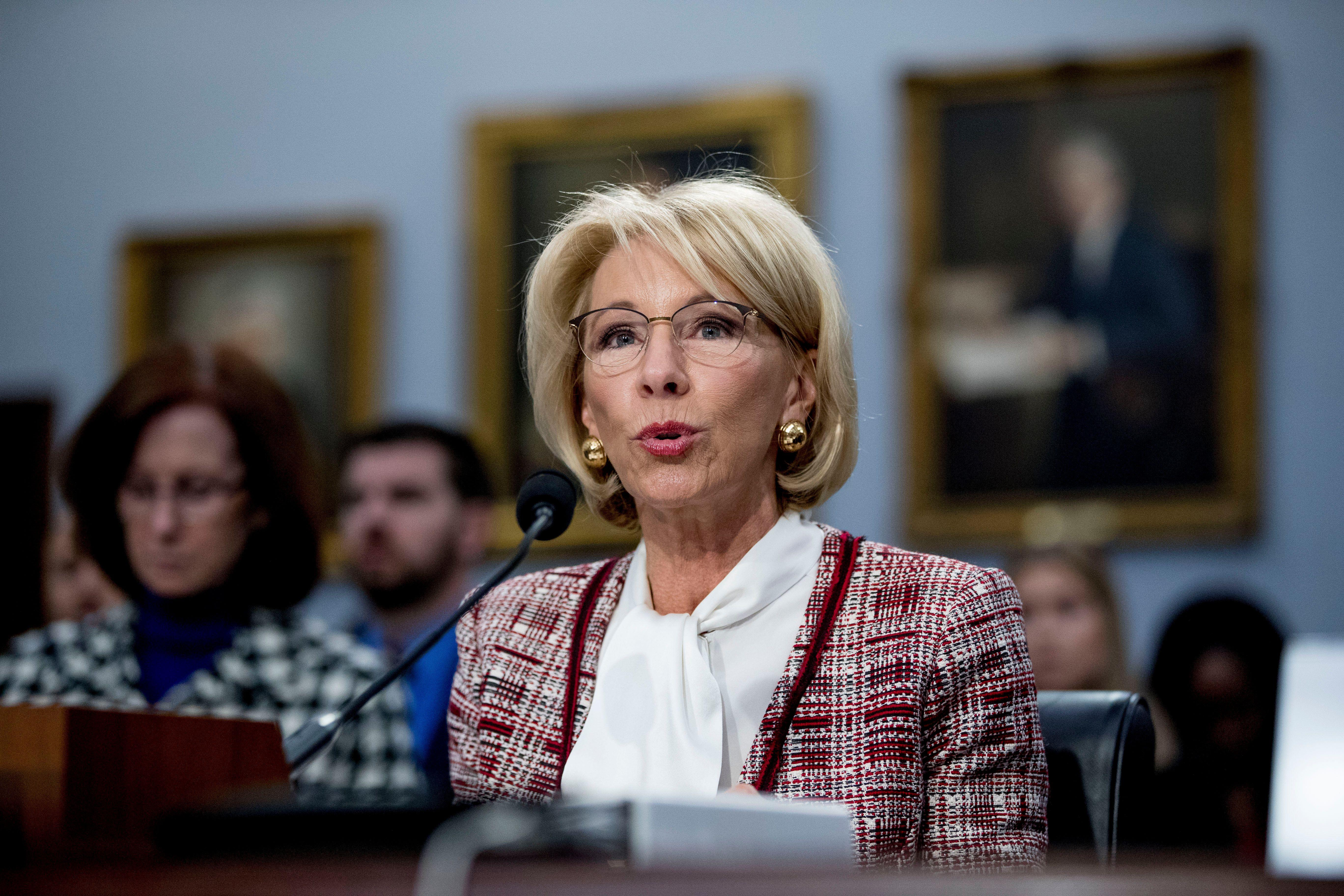 ee9f42ece1715 Betsy DeVos under fire over funding cuts for Special Olympics