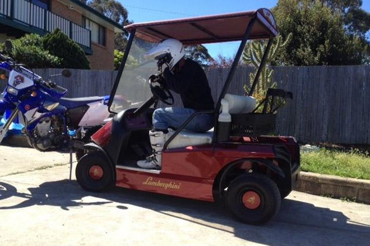 Man Told to Sell Lamborghini Golf Cart or Lose Wife Gangster Golf Cart on historical golf, mario golf, medieval golf, monster golf, indian golf, ghetto golf, jungle golf, halloween golf, great gatsby golf, cartoon golf, military golf, asian golf, old time golf,