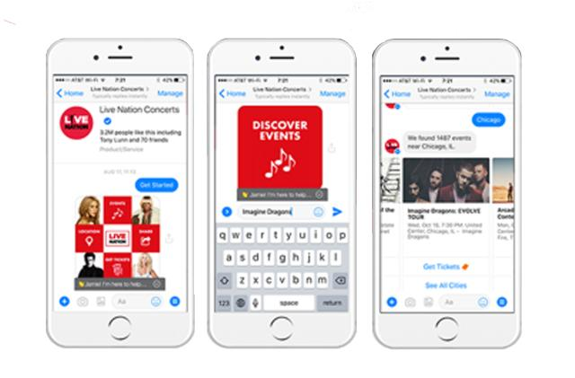 Live Nation's Messenger bot finds concerts you won't want to miss