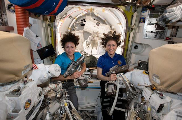 Watch NASA's first all-woman spacewalk