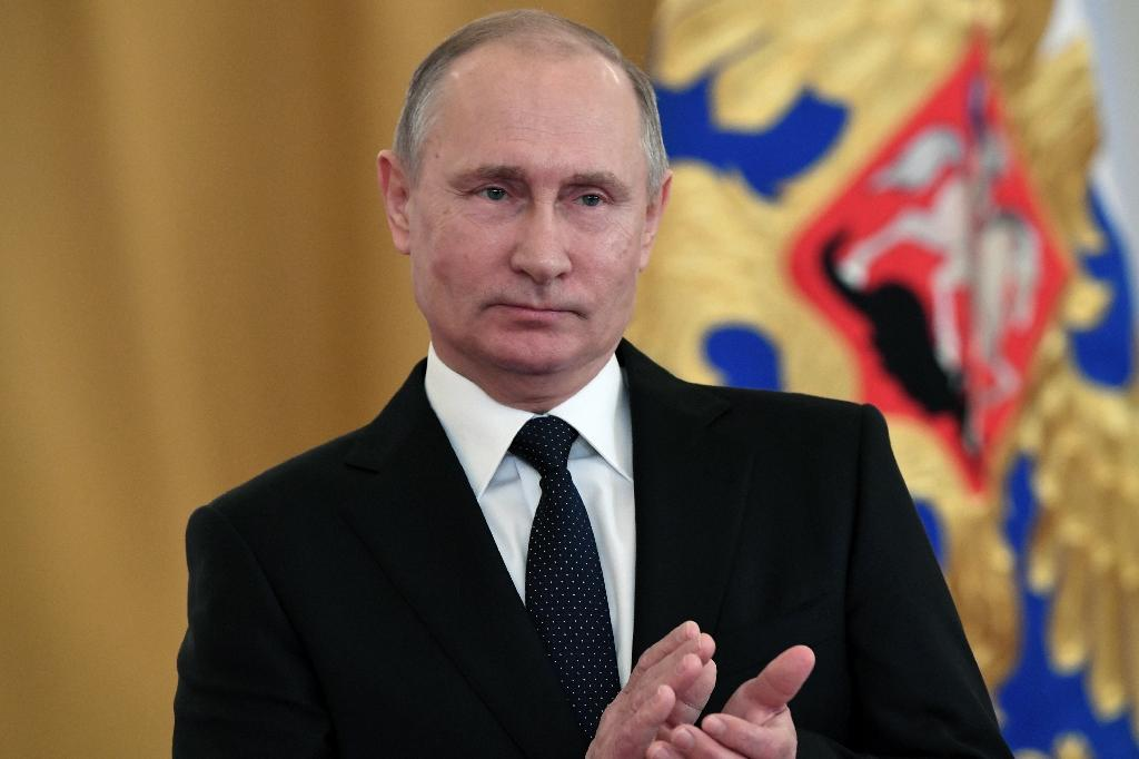 Russian President Vladimir Putin presented Russia's military efforts as a response to recent actions by the US