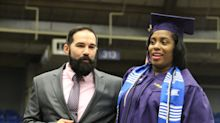 Mom in labor, determined to graduate college, walks across stage to get diploma before heading to hospital