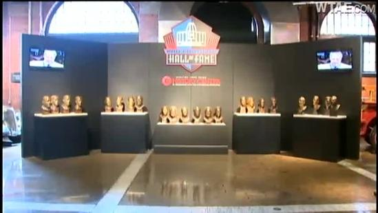 Steelers Hall of Fame busts on display at Heinz History Center