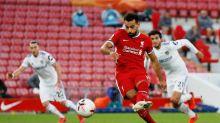 Salah anota tripleta en triunfo del Liverpool sobre un impresionante Leeds