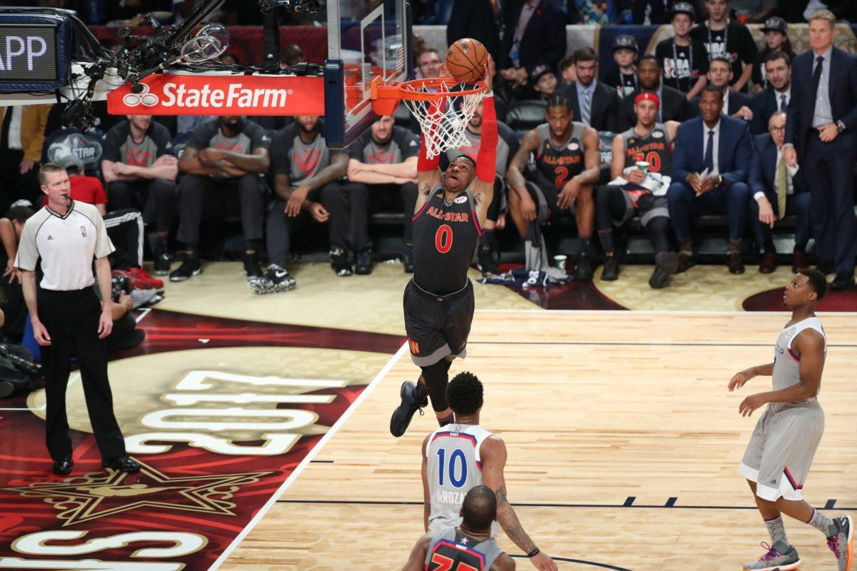 Russell Westbrook, Kevin Durant briefly renew their ... Russell Westbrook And Kevin Durant Alley Oop
