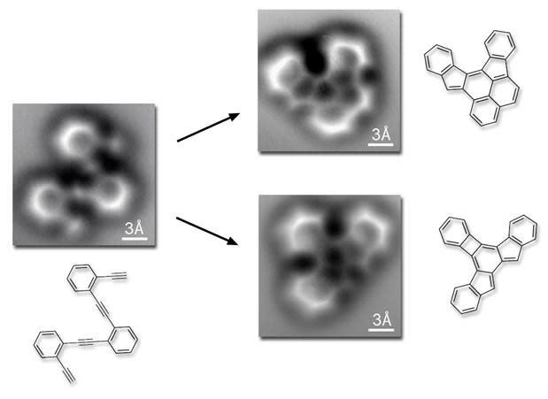 Scientists capture images of molecules forming atomic bonds
