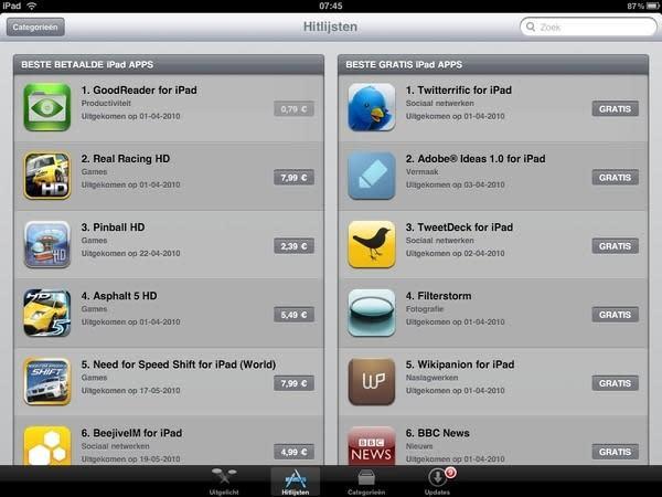 iPad app store goes live internationally