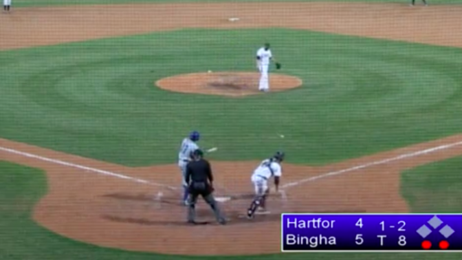 Minor leaguer strikes out in the strangest way you've ever seen