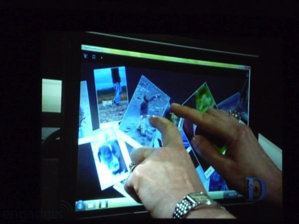 """Microsoft shows off """"snippet"""" of Windows 7 at D6, reveals multi-touch support"""