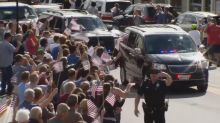 A Maine hero's welcome for George H.W. Bush