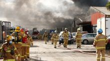 Fire rips through Melbourne factory