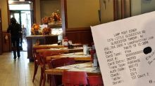 Police officer leaves pregnant waitress touching note, along with giant tip