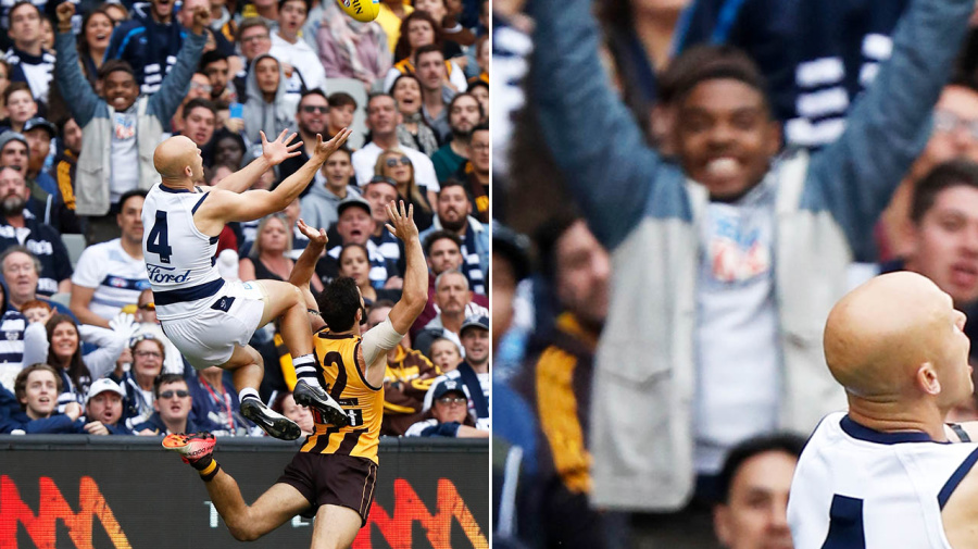 Hilarious truth about fan in background of epic AFL photo