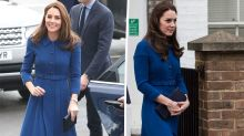 Kate Middleton recycles $2900 blue coat dress