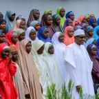 Nigeria's Buhari meets released Dapchi schoolgirls