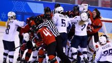 Gritty USA-Canada rivalry explodes again in women's hockey final