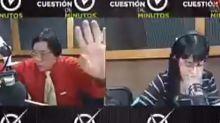 VIDEO | Locutor de radio en México agrede a su compañera en vivo y ahora piden que lo saquen del aire