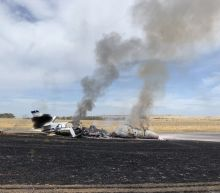 Jet catches fire in Northern California; 10 aboard unhurt