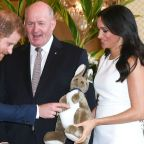 Meghan Markle and Prince Harry Play With Toy Gifts for Their Future Child in Sweet Pics