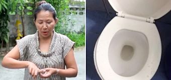 Woman's frightening attack as she sat on toilet