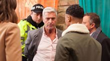 Hollyoaks' Mac is arrested during Neeta's memorial