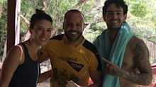 Rebeca Abravanel e Alexandre Pato treinam juntos na Bahia