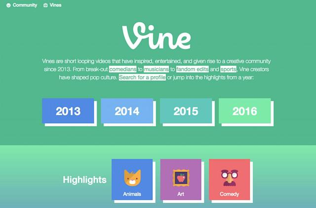 The Vine Archive will keep the videos looping forever