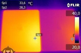 Infrared images show new iPad screen running warm