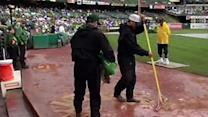 Rain causes flooding before A's game, damage in SF