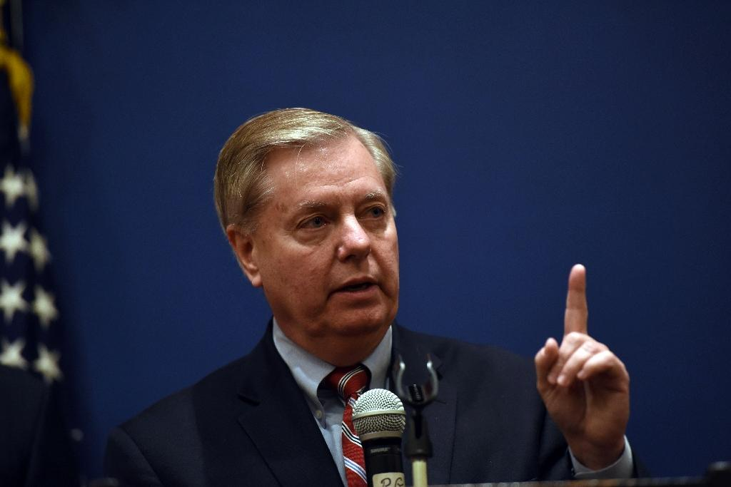 US Republican Senator Lindsey Graham, seen in April 2016, has called for a congressional probe into Russian election hacking