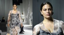 Ashley Graham pumps breast milk backstage at fashion week as she returns to the runway after maternity leave