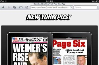New York Post blocks iPad access through Safari browser, hopes you'll pay for a subscription instead