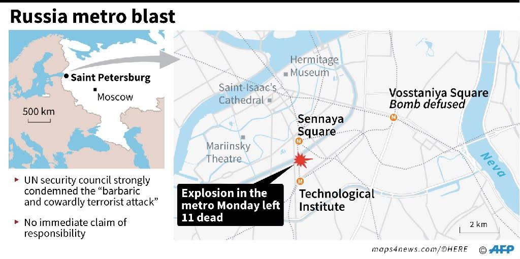 Saint Petersburg bomb blast (AFP Photo/AFP)