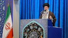 """Iran Supreme Leader Ayatalloh Ali Khamenei says attack against US military base was a """"strike at America's track record as a superpower"""""""