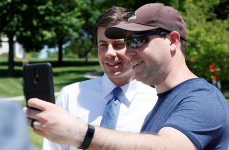 Democratic 2020 U.S. presidential candidate Mayor Pete Buttigieg campaigns at Capital Pride LGBTQ celebration at Iowa State Capitol in Des Moines