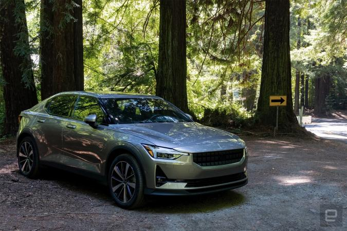 Polestar 2 in the forest