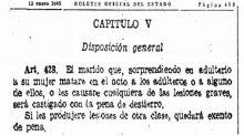 'Uxoricidio honoris causa', cuando la ley justificaba el asesinato de una mujer por parte de su marido por cuestiones de honor