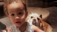 Start 'Em Young! Chrissy Teigen gets Daughter Luna to Help Clean Up a Spill