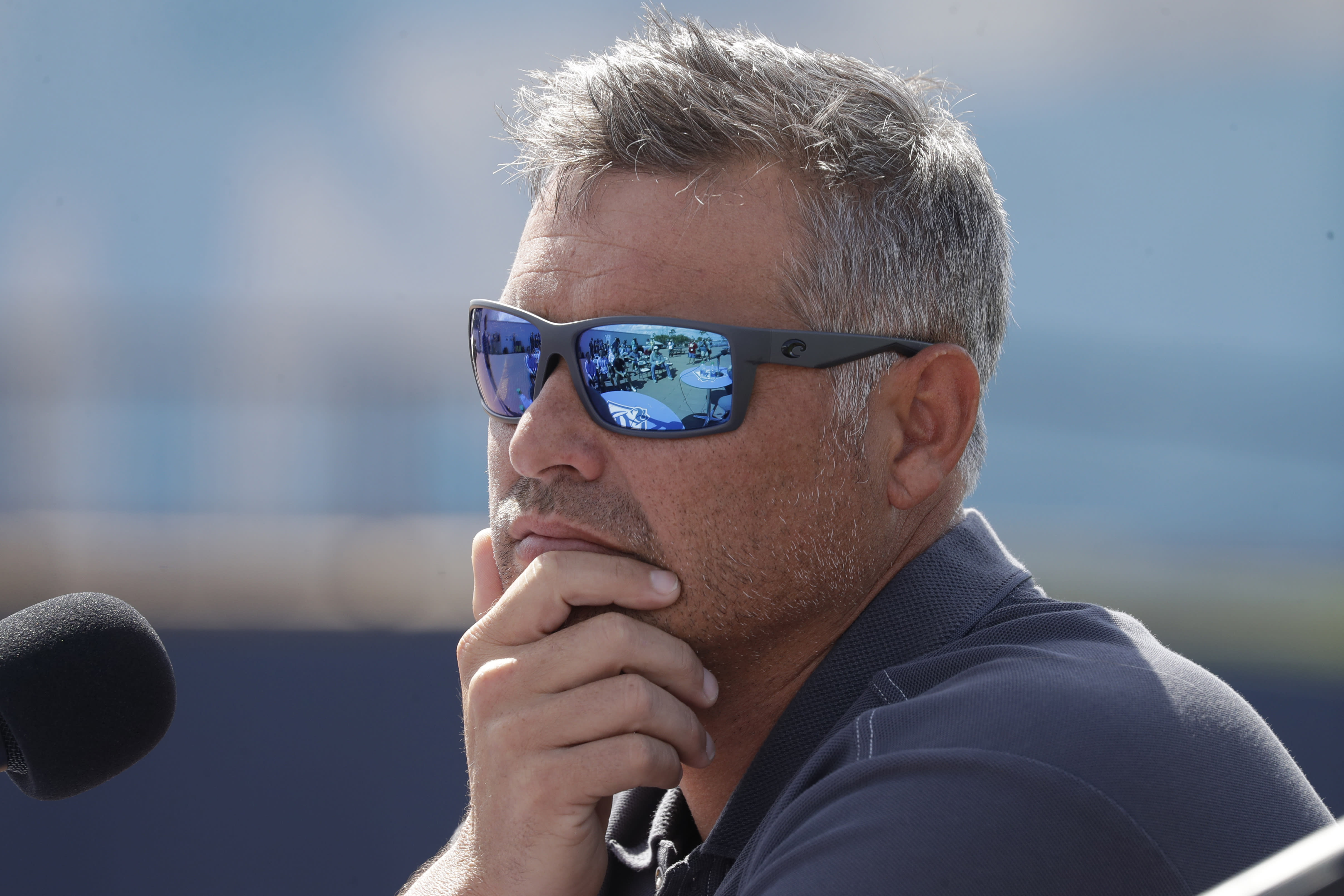 FILE - In this Feb. 12, 2020, file photo, Tampa Bay Rays manager Kevin Cash listens to a question during a news conference after pitchers and catchers reported for spring training baseball camp in Port Charlotte, Fla. (AP Photo/John Bazemore, File)