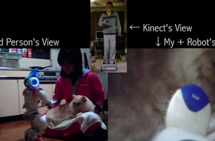Engineer makes cat companion out of robot using Kinect and Wiimotes